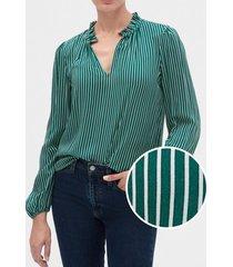 blusa con encaje verde gap