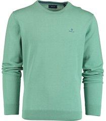 gant pullover ronde hals groen rf 8030541/351