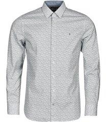 overhemd lange mouw tommy hilfiger flex floral print slim shirt