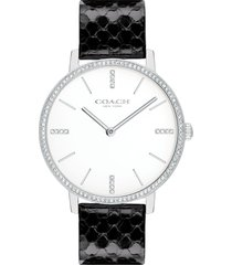 women's coach audrey leather strap watch, 35mm