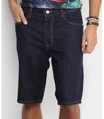 bermuda jeans coca-cola comfort escura masculina