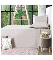 jogo de cama 200 fios casal 100% algodáo pentado toque macio  glamour - bene casa