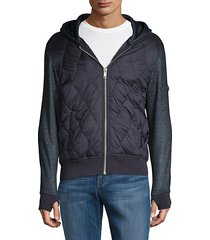 quilted down hoodie