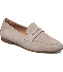 slip-ons loafers låga skor brun gabor