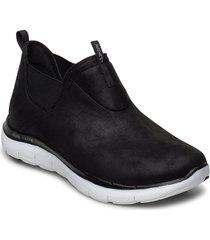 womens flex appeal 2.0 - d deal - waterproof låga sneakers svart skechers