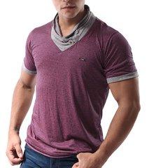 camiseta con botón joem para hombre