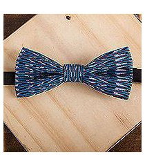 cotton bow tie, 'intricate charm' (mexico)