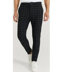 byxor soft chino check