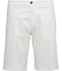 berwich white cotton bermuda shorts
