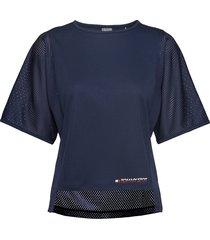 mesh t-shirt t-shirts & tops short-sleeved blå tommy sport