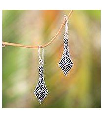 sterling silver dangle earrings, 'flying kites' (indonesia)