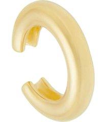 piercing de encaixe piuka lari argola tubo liso folheado a ouro 18k