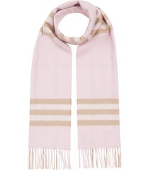 women's burberry giant icon check cashmere scarf, size one size - pink