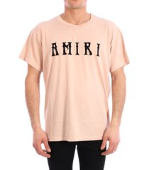 amiri t-shirt logo pink