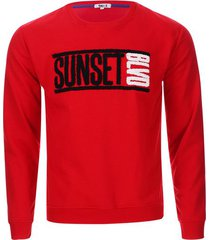 buzo sunset color rojo, talla xl