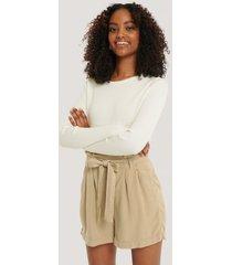 trendyol paperbag-shorts - beige