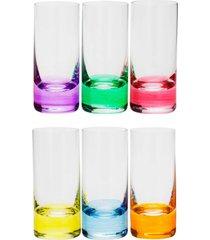 conjunto rojemac 6 copos de cristal ecolã³gico para shot set-bar favorit colorido - multicolorido - dafiti