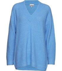 soft wool knit gebreide trui blauw ganni