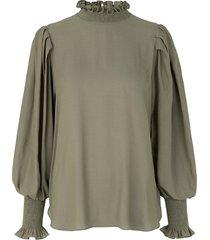 blouse met ballonmouwen florenza  groen