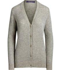 metallic cashmere cardigan