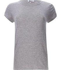 camiseta esencial unicolor color gris, talla xs