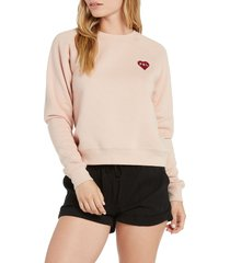 volcom x outer banks p4l sweatshirt, size xx-large in mushroom at nordstrom