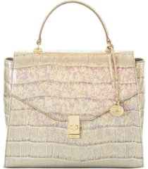 brahmin ingrid ivory calypso leather satchel