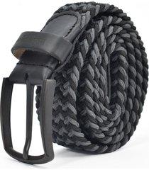 cinturón elástico gris/negro para hombre