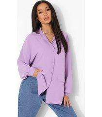 oversized linnen look tussenjas, lilac
