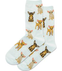 hot sox chihuahua crew socks