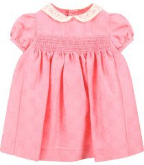 gucci pink dress for babygirl with double gg