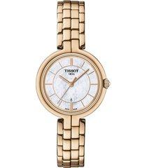reloj tissot para mujer - flamingo  t094.210.33.111.01