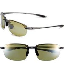 men's maui jim 'ho'okipa - polarizedplus2' 63mm sunglasses - smoke grey/ maui ht