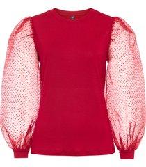 maglia con maniche trasparenti (rosso) - rainbow