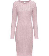 abito in maglia con perle (rosa) - bodyflirt