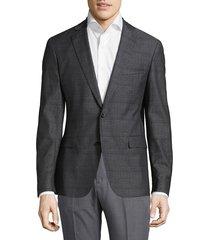 boss hugo boss men's ross jacket - dark grey - size 38 r