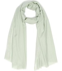 'dobby' stripe woven merino wool scarf