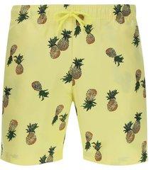 pantalóneta de baño piñas color amarillo, talla s