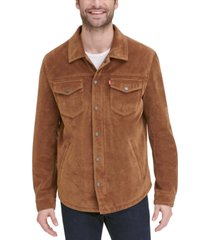 levi's men's faux suede shirt jacket