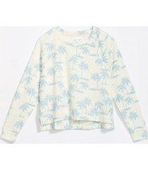 loft lou & grey palm tree terry sweatshirt