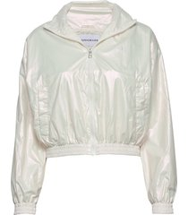 iridescent windbreak zomerjas dunne jas wit calvin klein jeans