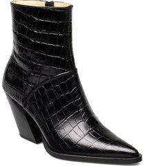 escape from the west ankle boot shoes boots ankle boots ankle boots with heel svart anny nord