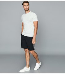 reiss adam - tailored shorts with side stripe in navy, mens, size 38