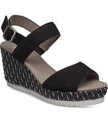 sling sandals sandalette med klack espadrilles svart gabor