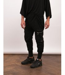 spodnie cargo black