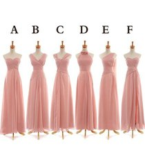 cheap customize floor length bridesmaid dress simple design party dress wedding