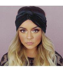 womens cross velvet elastic head banda capelli accessorio beanie hat uv proteggi sun hat