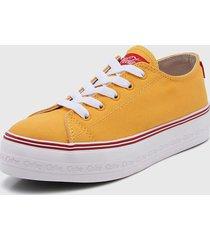 zapatilla amarilla coca-cola shoes ella canvas