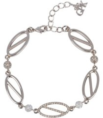 grace kelly collection rhodium plated parking bracelet