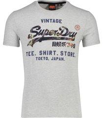 lichtgrijs gemeleerd t-shirt superdry vintage